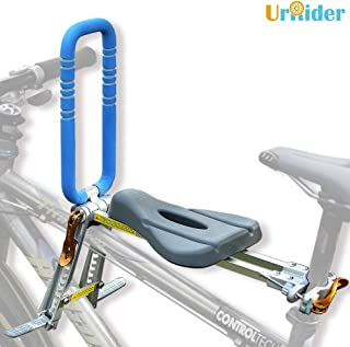 UrRider Child Bike Seat, Portable, Foldable & Ultralight Front Mount Baby Kids' Bicycle Carrier Handrail Mountain Bikes, H...