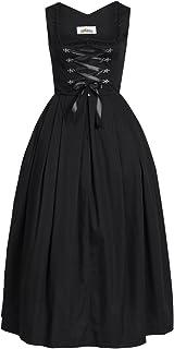 Almsach Damen Trachten-Mode Langes Dirndl Marei in Schwarz traditionell