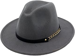 3522242fc Amazon.co.uk: Grey - Fedoras & Trilby Hats / Hats & Caps: Clothing