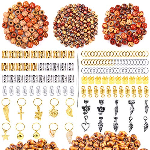 Wooden beads for braids