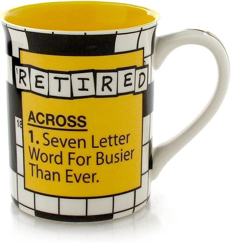 Our Name Is Mud Retire Crossword Stoneware Mug 16 Oz