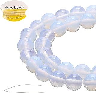 ILVBD Natural Round Opal Gemstone Beads 4/6/8/10/12MM for DIY Jewelry Bracelet Making Bulk (Opal, 8MM)