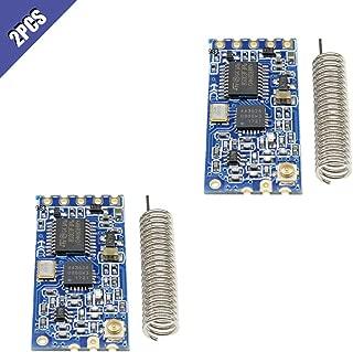 Comidox 2Pcs 433Mhz HC-12 SI4463 Wireless Serial Port Module 1000m Replace Bluetooth