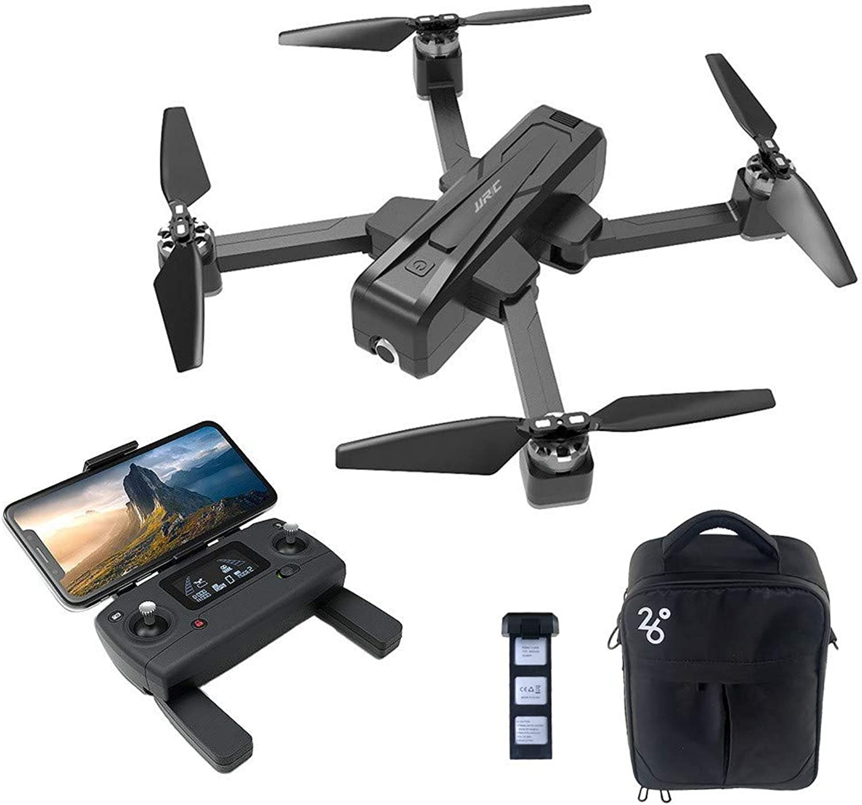 Qomomont JJR   C X11 5G Faltbare Drohne mit WiFi FPV 2K GPS Brushless RC Drohne Mit einachsigem Gimbal und Bag Professional Live Drone (wie Gezeigt, A-Wei)