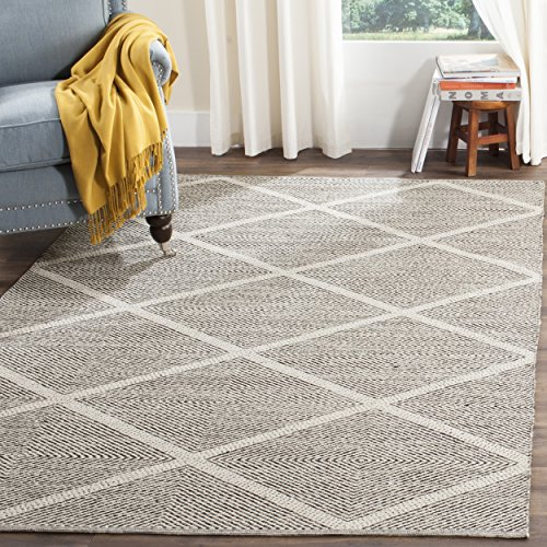 Safavieh Montauk Collection MTK821D Handmade Flatweave Black Cotton Area Rug (4' x 6')