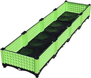 グリーンインドアプランターレイズドベッド、 ガーデンプラスチック植栽ボックス 野菜/花/イチゴの場合、 組み立てが簡単 (Size : 160×40×23cm)