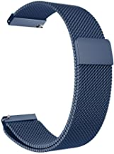 for Xiaomi Huami Amazfit Bip Youth Watch 22mm Milanese Loop Band for Samsung Galaxy Watch 46mm 42mm Wristband 20mm Watch Strap,Blue,20mm for amazfit bip