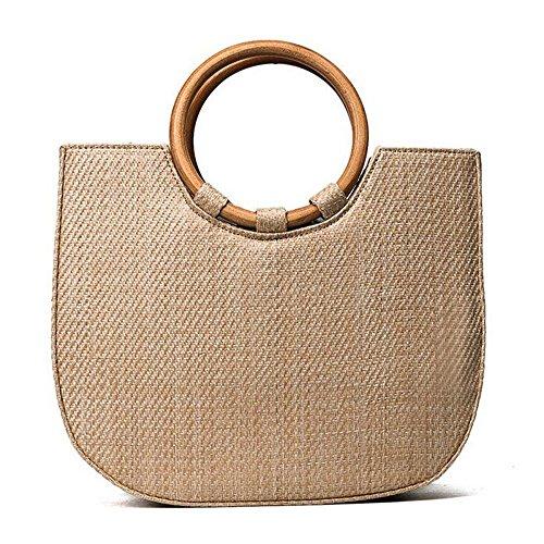 Onemoret Bags for 2018moda donna estate viaggio borse a mano donna borse a tracolla paglia bag Beach Totes borse trasporto di goccia
