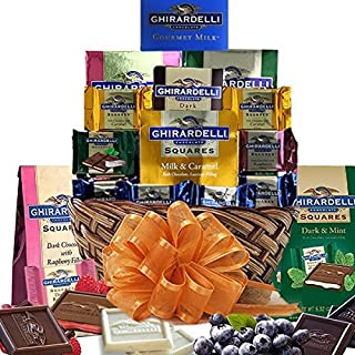 Grand Ghiradelli Chocolate Gift Basket a Beautiful Array of Sweets