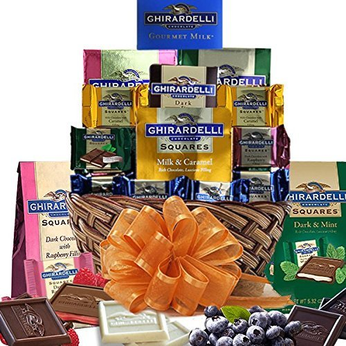 Grand Ghiradelli Chocolate Gift Basket a Beautiful Array of...