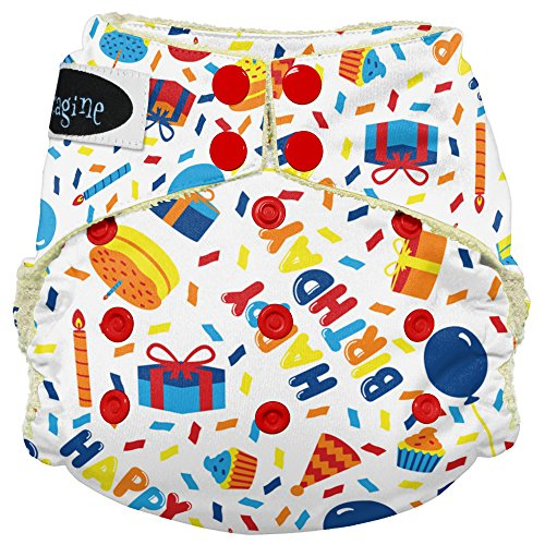 Imagine Baby Products Viscose from Bamboo AIO 2.0 Diaper, Birthday Boy, Snap