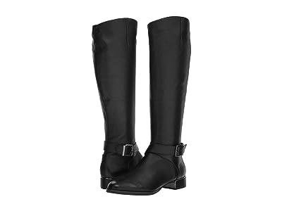 Kenneth Cole New York Branden Buckle (Black Leather) Women