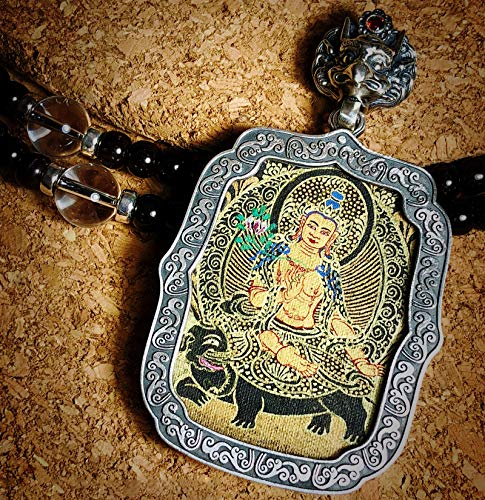 QWX Buda Colgante Adorno Talismán para Mujer Colgante Thangka Joyas Artículos Preciosos Un Amuleto simbólico Adecuado para budistas, Samantabhadra