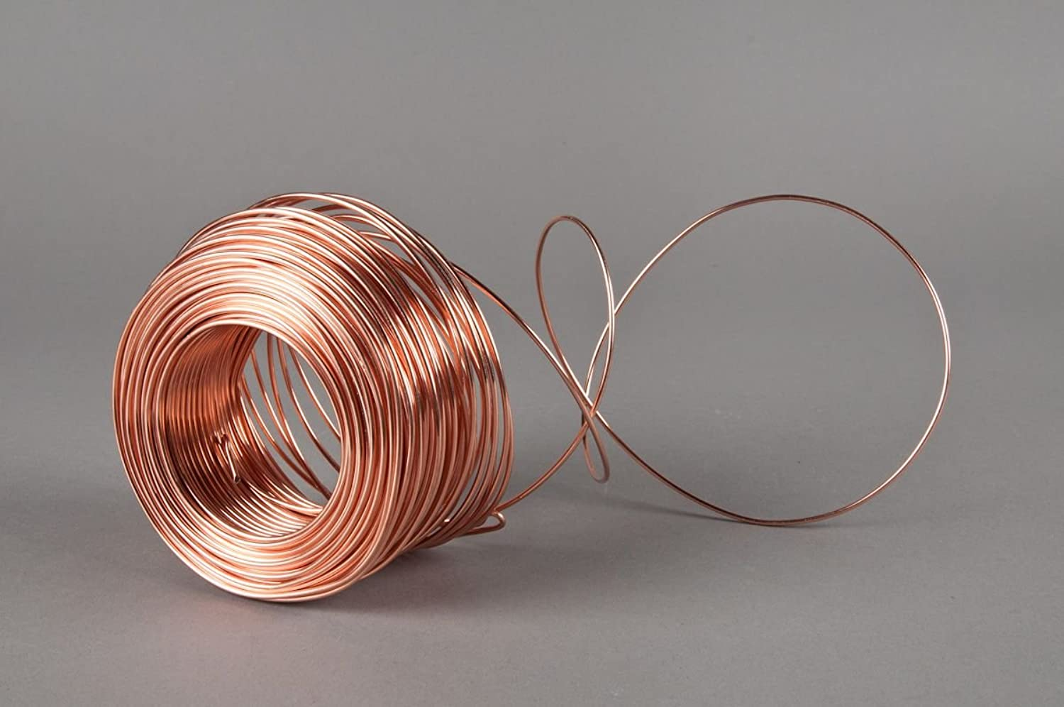 Copper Wire Bare Uncoated Solid 14 Gauge (1.6 mm Length 50 m Size 14 AWG), 50m x 5