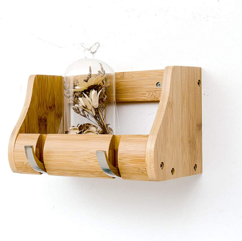 Best Coat Stand- Nordic Solid Wood Coat Rack Wall-Mounted Hanger Bedroom Coat Hook Porch Wall Shelf -Home Decor (Size   S)