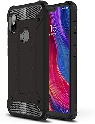 15204410c60 HUUH Funda Xiaomi Redmi Note 6/Xiaomi Redmi Note 6 Pro Carcasa Caja de  tel?fono m?vil, combinaci?n TPU + PC, Hermosa Mano de Obra(Negro)