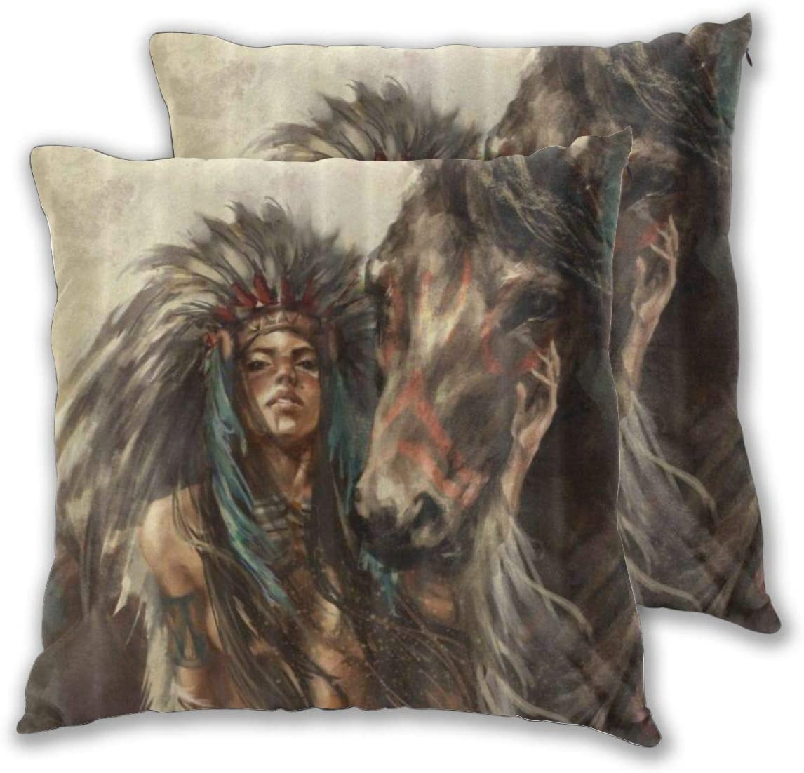 TISAGUER Set of 2 Don't miss the campaign Throw Native Covers Wonderful Pillow American Cheap bargain