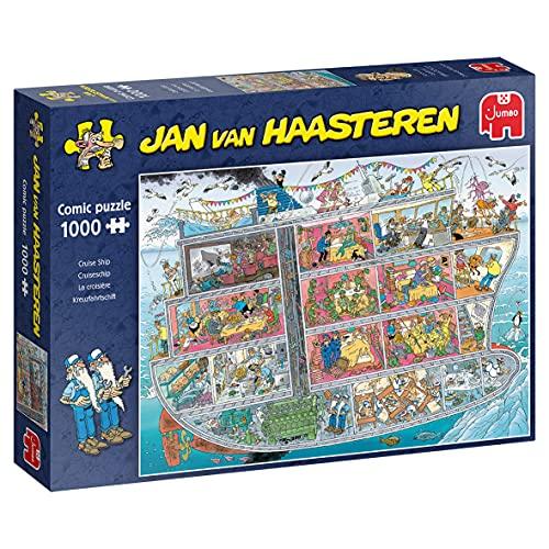 Jumbo 20021 Jan Van Haasteren-Kreuzfahrtschiff-1000 Teile Puzzlespiel, Mehrfarben