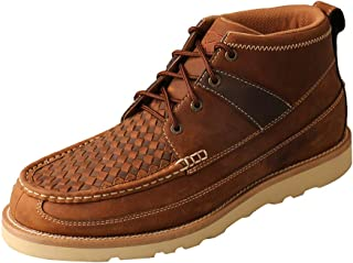 Twisted X Mens 4in Wedge Sole Woven Boots 8.5 M