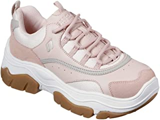 Skechers Women's Amp-D City Step-N Fashion Sneakers Light Pink