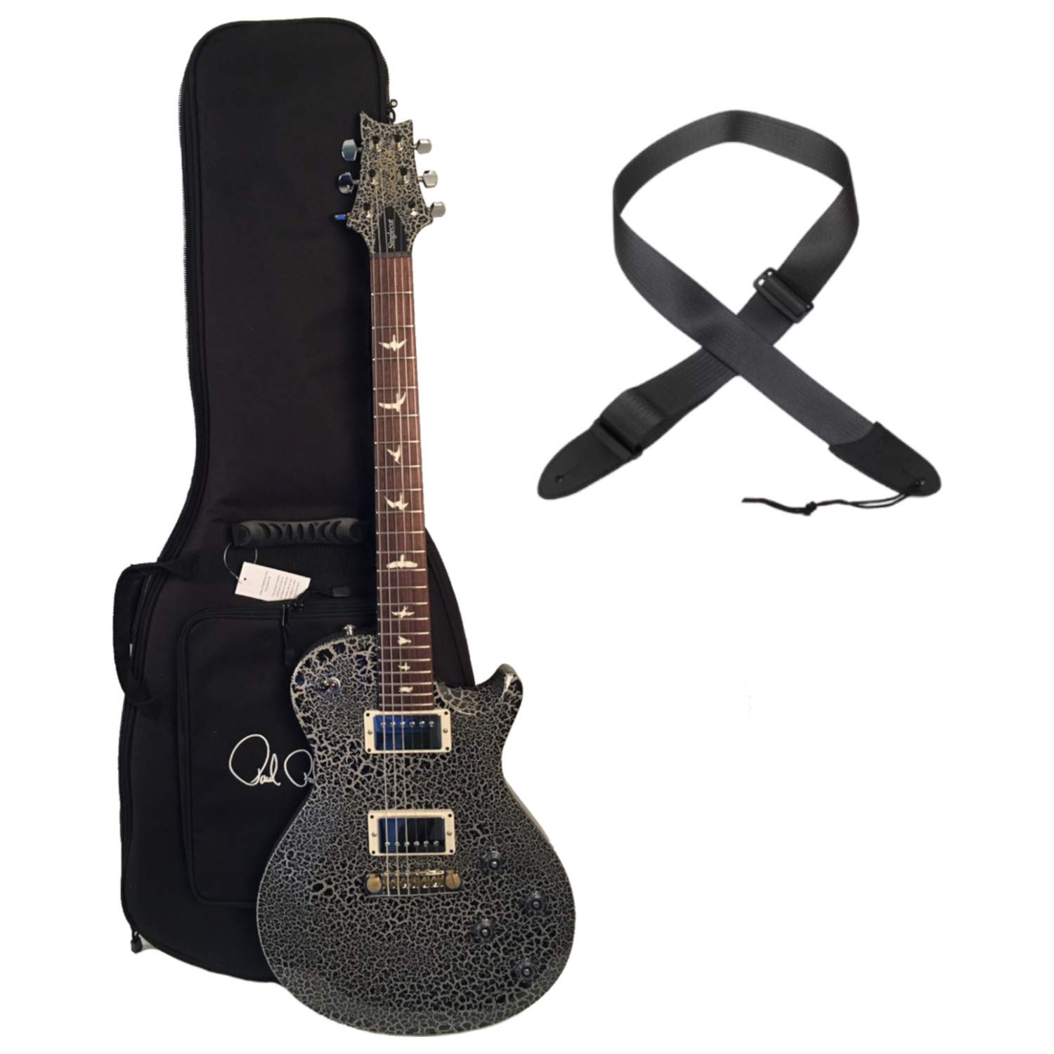 Cheap PRS S2M2F2HSIBA Singlecut Custom Color Crackle Electric Guitar w/Bag and Strap Black Friday & Cyber Monday 2019
