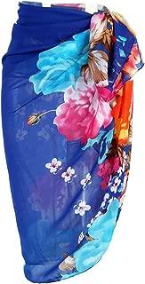 Womens Swimwear Chiffon Printed Cover up Beach Sarong Pareo Bikini Swimsuit Wrap
