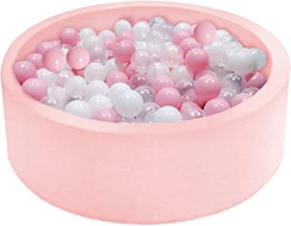 """Ball Pit, Kiddie Memory Foam Ball Pits for Toddlers Kids Babies Ball Playpen Soft Round Ball Pool 35.4"""" x 11.8"""" Play Toy Ideal Gift, Balls not Included (Pink)"""