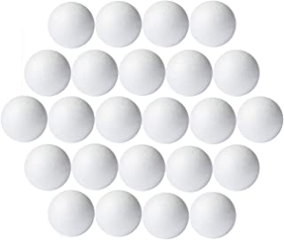 Foam Balls for Crafts, 24-Pack Smooth Styrofoam Balls, 3 Inches in Diameter, White