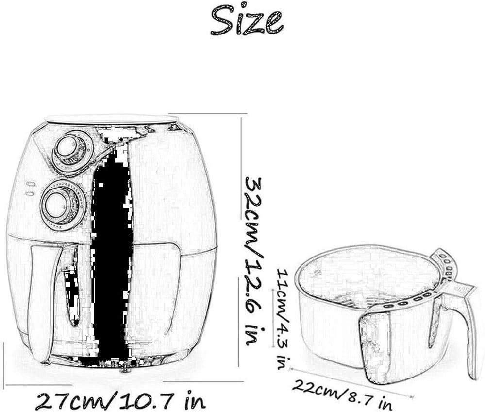 Sans Huile Friteuse Air AutomatiquesMachines Multi-fonction Petite Grande Capacité Antiadhésive (Color : A) A