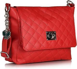 Butterflies Women Sling Bag (Red) (BNS 0395)