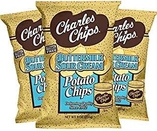 Charles Chips Buttermilk Sour Cream Potato Chips (Pack of 3)