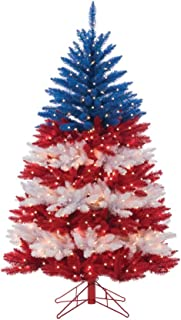 Sterling 5ft. Patriotic American Tree Home Decor, 20InL x 20InW x 64InH, Multicolor