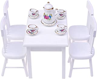 Simulation Miniature Dining table Furniture Model Toy  1//12 Dollhouse Decorat QE
