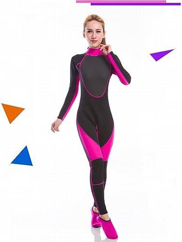 QLC Combinaison de Plongée Femmes Extérieur Soleil Chaud VêteHommests de Surf Western à Manches Longues Pantalon Combinaison de Plongée Surf