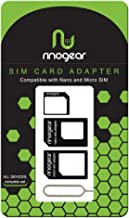 SIM Card Adapter [4 in 1] Nano Micro Standard Kit Converter RinoGear + Steel Tray Eject Pin