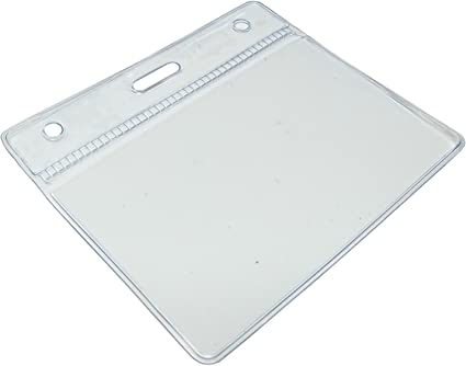30x Clear Plastic ID Badge Card Plastic Wallet Pocket Holder Pouchs 98x86mm UK