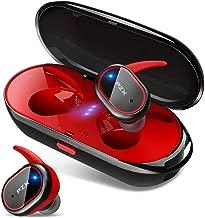 【2019進化版 Bluetooth5.0 HiFi高音質】 Bluetooth イヤホン 自動ペアリング 自動ON/OFF IPX6防水 完全ワイヤレス イヤホン 両耳 左右分離型 軽量 マイク付き タッチ式 Siri対応 ノイズキャンセリング&AAC対応 技適認証済 日本語音声提示 ブルートゥース イヤホン iPhone/iPad/Android対応 PZX