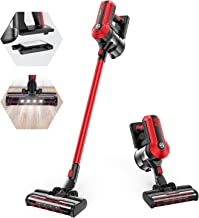 MOOSOO Cordless Vacuum, 300W Powerful Stick Vacuum, 5 Stages Filtration System, 35 mins Runtime, 4-in-1 Vacuum Cleaner for...