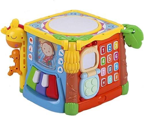 YL-Light Spielzeug Lernspielzeug Kinder Form passende Bausteine 1-2-3 Jahre alt anderthalb Baby sechsseitige Box Intelligenz Box Baby Weißheit Haus