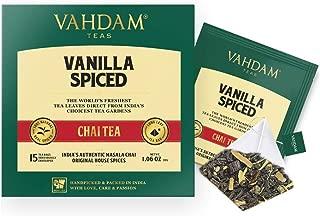 VAHDAM, Vanilla Chai Tea | 30 Tea Bags (Set of 2) | STRESS RELIEVING & REFRESHING | Spiced Masala Chai Tea | Delicious Blend Of Vanilla Tea | Spiced Chai Tea Bag | Brew As Hot, Cold or Iced Tea