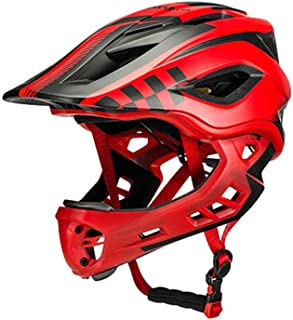 comprar comparacion ROCKBROS Casco Integral Desmontable de Niños para Bicicleta MTB BMX Ajustable con 12 Agujeros Tamaño 48-58cm