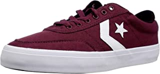 Converse COURTLANDT Low TOP Sneaker, Dark Burgundy/White/Black, 5.5 M US