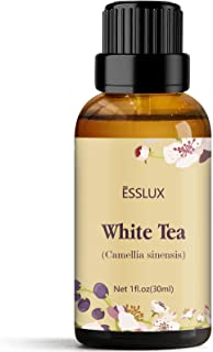 ESSLUX White Tea Essential Oil, Aromatherapy Essential Oils for Diffuser, Massage, Soap, Candle Making, Home Fragrance, 30 ml