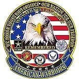 EagleEmblems SG9017 Sign-American Warriors (12''), Multicolor