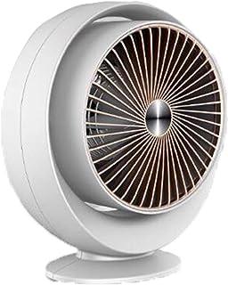 暖风机 取暖器 办公桌壁挂式 两用 空间加热器 便携式 快速加热 节能加热器 家用 个人空间加热器风扇 (White)