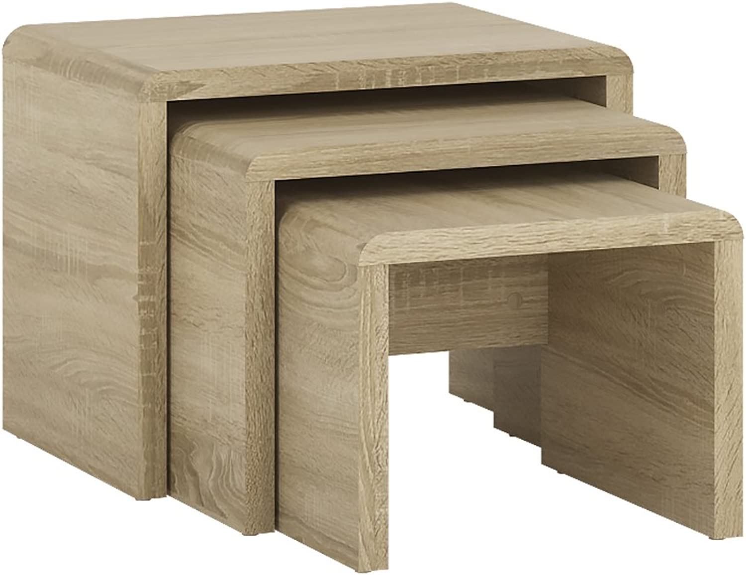 (3 Table Nest) - Furniture To Go 4YOU Small Nest of Tables, Coffee Table, Living Room - Sonama Oak