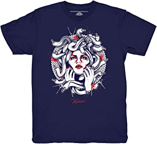 Tinker 6 Medusa Navy Blue Shirt to Match Jordan 6 Tinker Sneakers