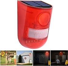 SZYOUMY Solar Powered Sound Alarm Strobe Light Flashing 6LED Light Motion Sensor Security Alarm System 110dB Loud Siren for Home Villa Farm Hacienda Apartment Outdoor Yard Day Mode + Night Mode