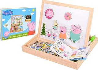 Peppa Pig Kinderbord, schilderbord, magneetbord, speelgoed, schoolbord, standbord, schrijfbord, educatief spelbord met acc...
