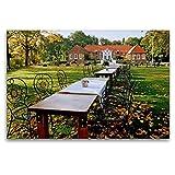 Premium Textil-Leinwand 120 x 80 cm Quer-Format Gut Landegge | Wandbild, HD-Bild auf Keilrahmen, Fertigbild auf hochwertigem Vlies, Leinwanddruck von Heinz Wösten